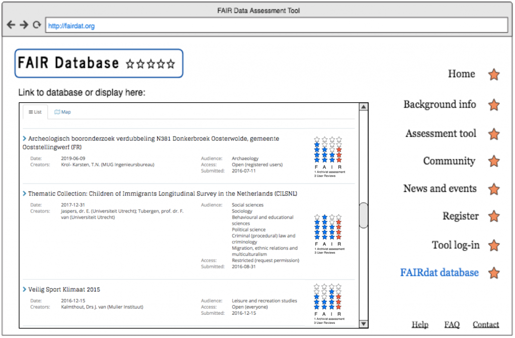 FAIR assessment tool