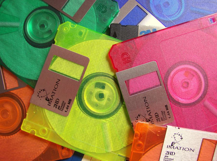Image of 3.5 inch floppy disks